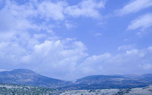 Montagne e cieli di Galilea
