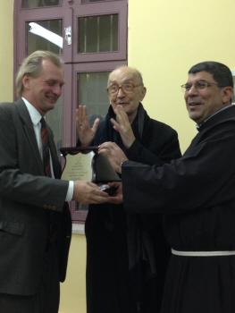 Axel Wernhoff, Mons. Luciano Giovannetti e p. Ibrahim Faltas