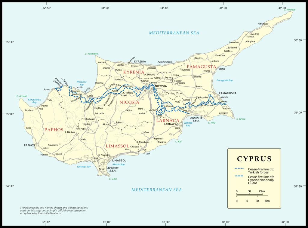 Cipro - Carta politica