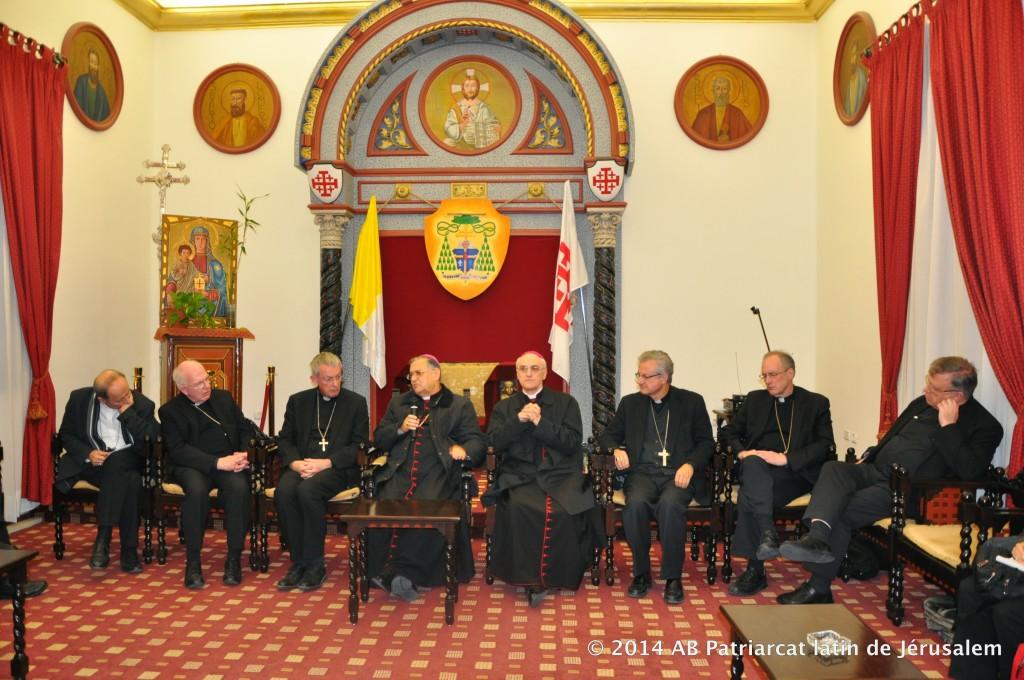 Vescovi partecipanti al pellegrinaggio