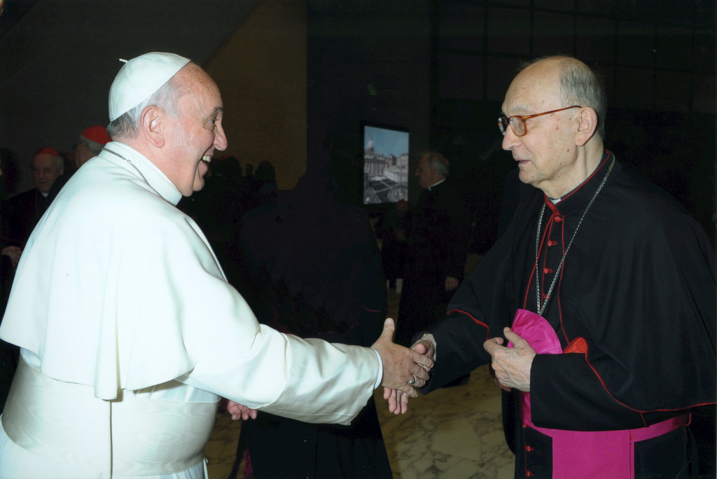 Sua Santità Papa Francesco e Mons. Luciano Giovannetti