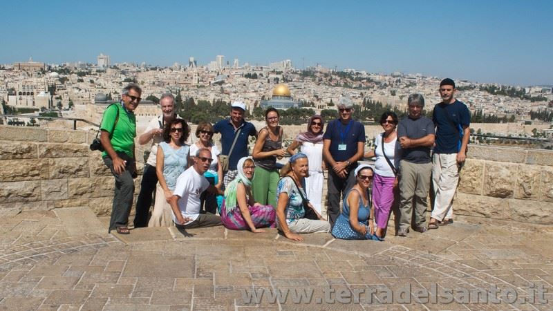 Foto di gruppo pellegrini