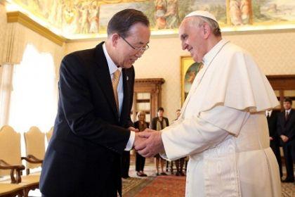 Papa Francesco e Ban Ki-moon