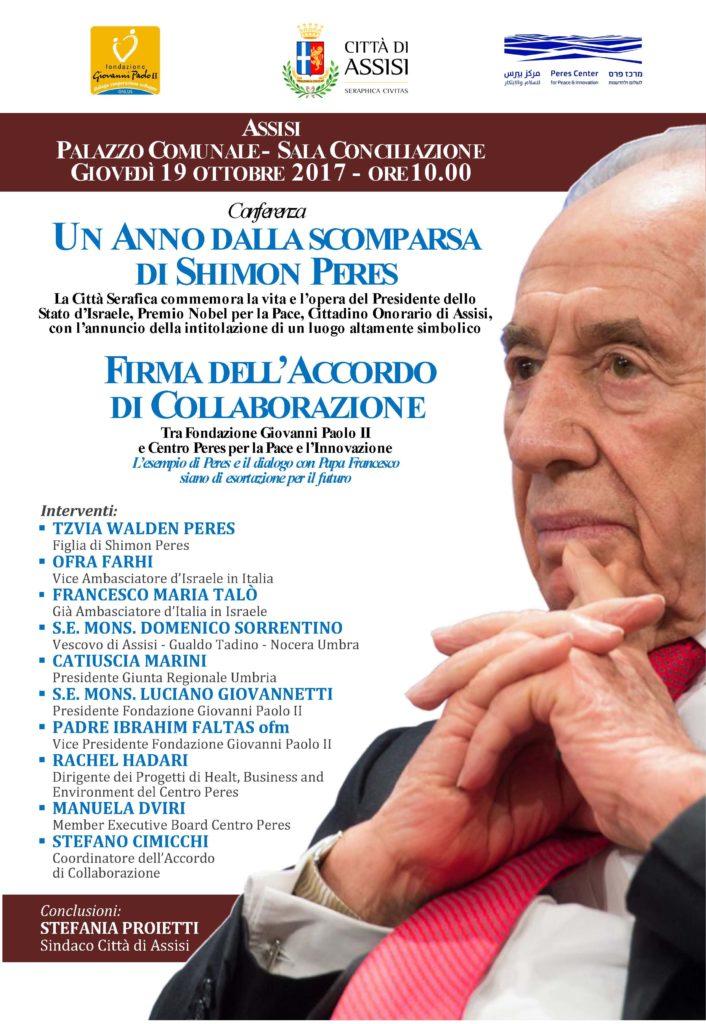 Commemorazione Shimon Peres