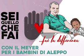 Con il Mayer per i bambini di Aleppo