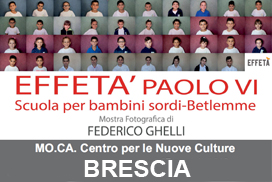 """Mostra fotografica """"Effetà. Paolo VI Scuola per bambini sordi – Betlemme"""" di Federico Ghelli"""