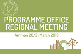 PROGRAMME OFFICE REGIONAL MEETING Amman 20/21 Marzo 2019