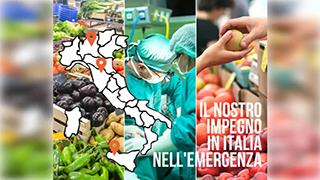 Il nostro impegno in Italia nell'emergenza sanitaria